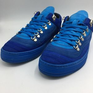 Filling Pieces blue suede wave sneakers size 36